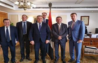 وزير قطاع الأعمال العام يستقبل نائب مكتب الرئاسة الأوكرانية وسفيرها بالقاهرة