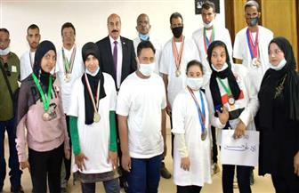 محافظ أسوان يكرم أبطال أسوان الفائزين في بطولة الجمهورية لألعاب ذوي الإعاقة