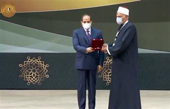الرئيس السيسي يكرم عددا من علماء الدين خلال احتفالية ذكرى المولد النبوي الشريف