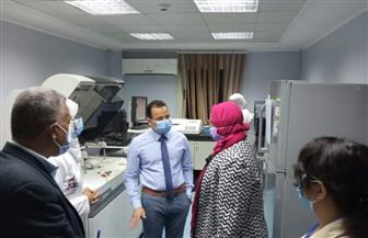 وكيل صحة الأقصر يتفقد مستشفى الجهاز الهضمي والكبد   صور