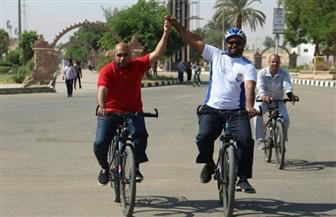 انطلاق ماراثون الدراجات بجامعة أسوان | صور