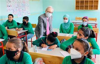 سفير اليابان يشهد افتتاح مدرسة ابتدائية بالسيدة زينب بعد تطويرها | صور