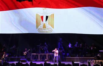 حكيم: سعيد بمشاركتي في احتفالية المنصة.. والحضور دليل على تماسك المصريين | صور