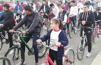 ماراثون للدراجات ضمن احتفالية جهاز 6 أكتوبر بالعيد القومي للمدينة
