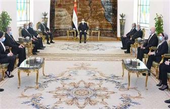 تفاصيل اجتماع الرئيس السيسي مع ممثلي شباب القضاة المتميزين من أعضاء الجهات والهيئات القضائية| صور