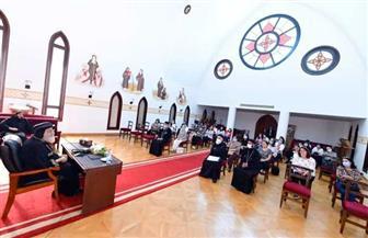 البابا تواضروس يستقبل زوجات كهنة وسط الإسكندرية | صور