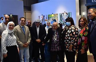 وزيرة الثقافة تفتتح معرض رواد الفن التشكيلي|صور