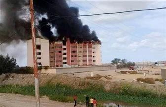 السيطرة على حريق بمدرسة في منطقة أبيس العاشرة بالإسكندرية  صور
