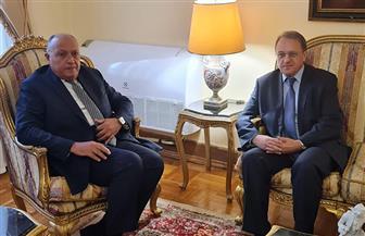 سامح شكري يستقبل نائب وزير الخارجية الروسي أثناء زيارته لموسكو