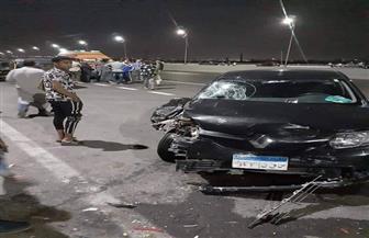 مصرع شخص وإصابة 3 آخرين في حادث مروري بالبدرشين  صور