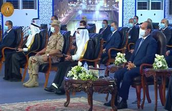 الرئيس السيسي يرحب بالوفد السعودي والمشاركين خلال افتتاح جامعة الملك سلمان بشرم الشيخ