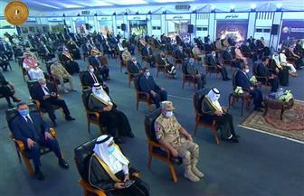"""الرئيس السيسي يشاهد فيلما تسجيليا بعنوان """"منارات سيناء الحديثة"""""""