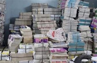 ضبط 44 ألف نسخة من كتب وأغلفة تجارية بدون تفويض داخل مطبعة بالجيزة