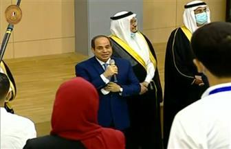 الرئيس السيسي يوجه سؤالا لطلاب وطالبات جامعة الملك سلمان الدولية