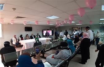 «أطمني.. إحنا معاكي».. ندوة توعية بسرطان الثدي في معهد ناصر   صور