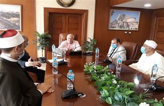 محافظ بورسعيد يترأس اجتماع اللجنة العليا لمسابقة حفظ القرآن الكريم والإنشاد | صور