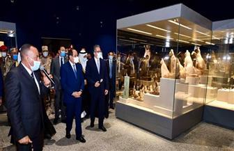المتحدث الرئاسي ينشر صورا لافتتاح الرئيس السيسي جامعة الملك سلمان ومتحف شرم الشيخ