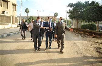 توسعة شارع المحكمة والبريد وحملات لإزالة الإشغالات بكفر الشيخ | صور
