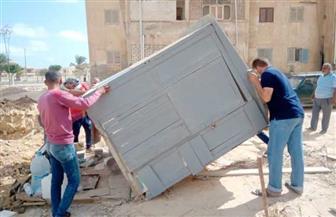 تحرير 30 مخالفة في حملة إزالات بمطروح | صور