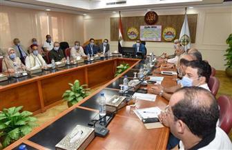 محافظ مطروح يلتقي لجنة متابعة المشروعات التنموية بمجلس الوزراء