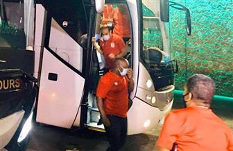 حافلة الأهلي تصل ستاد القاهرة لمواجهة المقاولون العرب بالدوري