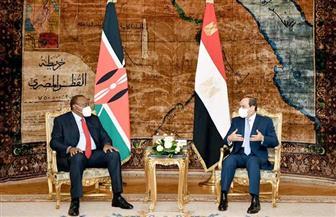 الرئيس السيسي يؤكد لنظيره الكيني أهمية قضية المياه بالنسبة للشعب المصري باعتبارها مسألة أمن قومي