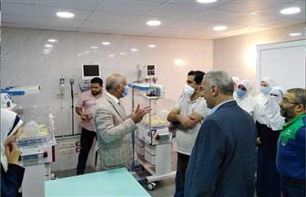 """وكيل """"صحة الغربية"""" يتفقد أعمال تطوير المركز الطبي بقرية الشين استعدادا لافتتاحه   صور"""
