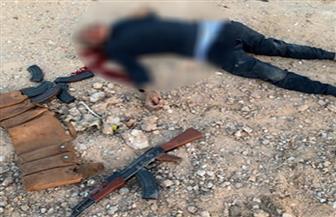 مصرع عنصر إجرامي وإصابة أمين شرطة في تبادل لإطلاق النار