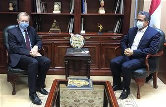 وزير السياحة والآثار يستقبل سفير الاتحاد الأوروبى الجديد بالقاهرة | صور