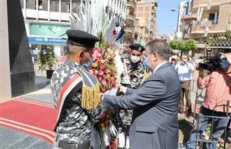 محافـظ المنوفية يضع إكليل الزهور على النصب التذكارى احتفالا بانتصارات أكتوبر| صور