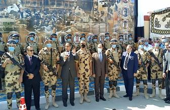 محافظ شمال سيناء يفتتح 5 ميادين ضمن المرحلة الأولى لتطوير العريش| صور