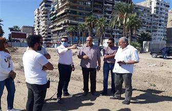 نائب محافظ بورسعيد يتابع سير العمل في مول الفرما ومشروع ساحة مصر   صور
