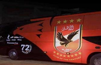 حافلة الأهلي تصل استاد «برج العرب» لمواجهة الطلائع بنهائي الكأس
