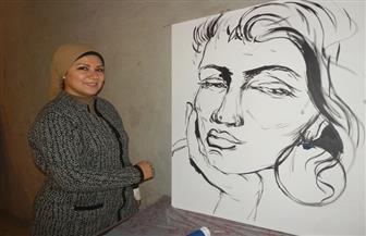 """هند الفلافلى تكشف عن معاناة المرأة بمعرض """"سفيرة"""""""