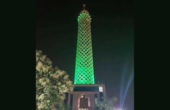 إضاءةبرج القاهرة باللون الأخضر لرفع الوعي بالأمراض النفسية