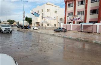 أمطار غزيرة على المراكز الشمالية في محافظة البحيرة