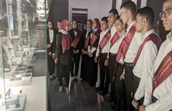 أول وفد طلابي رسمي من جامعة كفرالشيخ يزور متحف الآثارالقومي بعد افتتاحه | صور