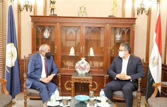 «العناني» يستقبل وزير الإعلام الجديد بالمملكة الأردنية قبل استلام مهام منصبه  صور