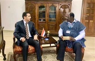 سفير مصر في أكرا يبحث التعاون بين مصر وغانا في علاج الأمراض المستوطنة والفيروسات