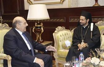 رئيس مجلس الشيوخ يستقبل بمكتبه نيافة الأنبا باخوم المعاون البطريركي للأقباط الكاثوليك |صور