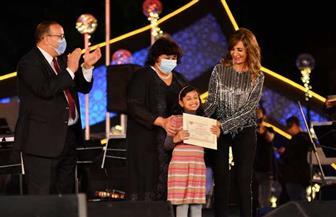 وزيرة الثقافة تسلم جوائز الفائزين بمسابقة مهرجان الموسيقى العربية | صور