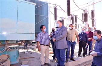 محافظ أسيوط يتفقد تنفيذ محطة مياه الشرب ومحطة كهرباء مدينة ناصر الجديدة | صور