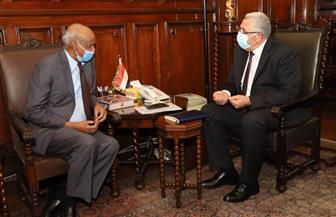 وزير الزراعة يبحث مع سفير السودان بالقاهرة التعاون فى البحث العلمي والإنتاج