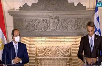 مؤتمر صحفى للرئيس السيسي ورئيس وزراء اليونان بأثينا
