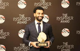 لاعبو المنتخب المصري في حفل تكريم محمد صلاح | صور