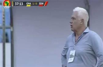 اعتداء حكم المباراة على مدرب السودان في لقائه مع غانا| فيديو