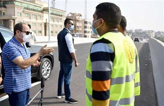 الرئيس السيسي يتفقد مشروعات تطوير المحاور والكباري بمحافظتي القاهرة والجيزة