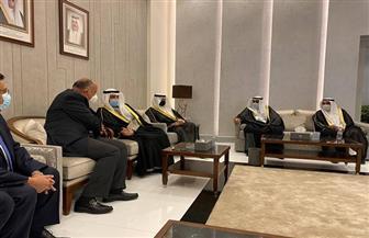 سامح شكرى يصل الكويت حاملاً رسالة من الرئيس السيسي