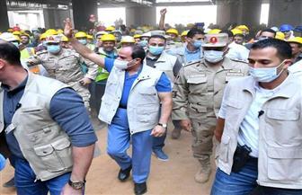 الرئيس السيسي: تابعت بفخر حجم الإنجاز وسير العمل في مدينة مصر الدولية للألعاب الأوليمبية