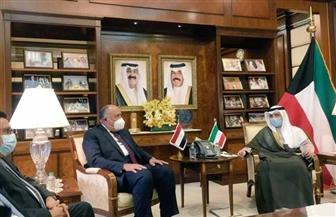 وزير الخارجية يعقد جلسة مباحثات مع نظيره الكويتي | صور